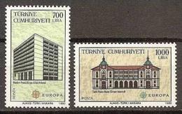 1990 Turchia Turkey EUROPA CEPT EUROPE Serie Di 2v. MNH** - Posta
