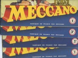 4 NOTICES MECCANO - Nos  :  2  -  2 A  -  3 A  Et  4  Toutes Les 4 Sont En Trés Bon état - Meccano