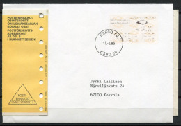 Finlandia 1992 Mi. 12 Busta 100% Automatici ESPOO, ESBO, NORDIA 1993 - ATM/Frama Labels