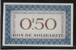 France Bon De Solidarité 0fr50 Pétain - Neuf - Bonds & Basic Needs