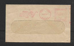 S.Africa,window Envelope, Bata Shoe Co., 1c Meter Frank PINETOWN NATAL 08.6.61 - Covers & Documents