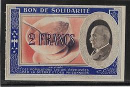 France Bon De Solidarité 2 Francs Pétain - TTB - Bonds & Basic Needs