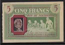 France Bon De Solidarité 5 Francs Pétain - SUP - Bonds & Basic Needs