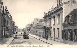 59-MALO-LES-BAINS- LA POSTE ET L'AVENUE BEL-AIR - Malo Les Bains