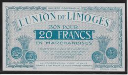 France L'Union De Limoges - Bon Pour 20 Francs - NEUF - Bonds & Basic Needs