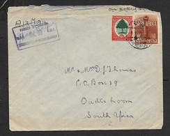S.Africa,air Mail, WW II, Forces Mail,10d  EGYPT 39 POSTAGE PREPAID (DATE ?) >s.Africa, UDF CENSOR No 99. - South Africa (...-1961)
