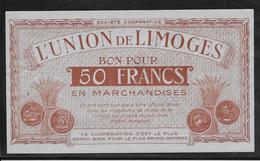 France L'Union De Limoges - Bon Pour 50 Francs - NEUF - Bonds & Basic Needs