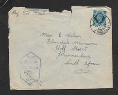 S.Africa,air Mail, WW II, Forces Mail,10d Of GB,  EGYPT 31 POSTAGE PREPAID 8 DE 41 >S.Africa, RAF CENSOR No 291. - South Africa (...-1961)
