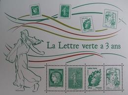 PTT/274 - LA LETTRE VERTE A 3 ANS - BLOC NEUF** N°F4908 - Sheetlets