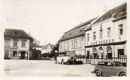 STOCKERAU - Café Gruber - Autocar, Voiture - CARTE PHOTO - Korneuburg
