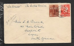 S.Africa,air Mail, WW II, Forces Mail,10d,  A.P.O. - M.P.K. (no) 36  25 III 42 C.d.s. >S.Africa,   CROWNED CENSOR . - South Africa (...-1961)