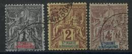 Sainte Marie De Madagascar (1894) N 1 à 3 (o) - Madagascar - Sainte-Marie (1894-1898)