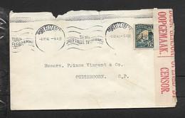 S.Africa,domestic Mail, 1 1/2d, WW II, PORT ELIZABETH 4. VI 41 > Oudtshoorn, Union Of S.Africa Censor Label - South Africa (...-1961)
