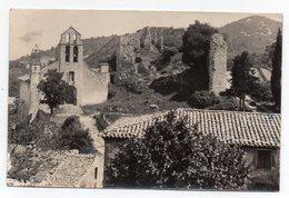 Cpsm 84 - Gigondas - L'église Et Ruines De L'hôpital - (9x14 Cm) - Frankreich