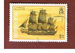 BERMUDA - MI 482 YI  -   1986  SHIPS: HERMINIE 1839                                                   -   USED° - Bermuda