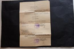 LAISSEZ PASSER ALLEMAND FRANCAIS 1940 TAMPON 11ieme CORPS D'ARMEE SERVICE DE SANTE GUERRE 39 45 MILITAIRE - 1939-45