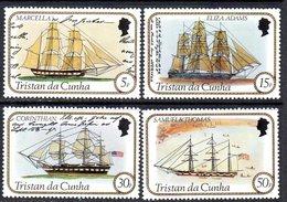 Tristan Da Cunha 1982 Sailing Ships Set Of 4, MNH, SG 323/6 - Tristan Da Cunha