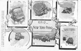 """0336 """"RAID  NEW YORK - PARIGI - VARIE VEDUTE AUTO IN PANNE""""   CART  NON SPED - Autres"""