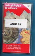 CARTE GEOLOGIQUE DE LA FRANCE - 1:50 000 - 454 ANGERS - Geographical Maps