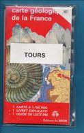 CARTE GEOLOGIQUE DE LA FRANCE - 1:50 000 - 457 TOURS - Geographical Maps