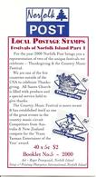 NORFOLK ISLAND, 2000, Booklet 12,  40x5c, Country Music - Norfolk Island