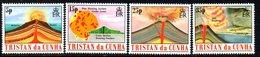 Tristan Da Cunha 1982 Volcanoes Set Of 4, MNH, SG 337/40 - Tristan Da Cunha
