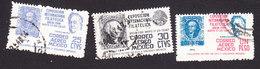 Mexico, Scott #C167-C169, Used, Int'l Philatelic Exhibition, Issued 1947 - Mexico