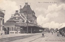 Ath - L' Intérieur De La Gare -  Carte Animée -  état Voir Scan. - Ath