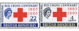 Ref. 324206 * MNH * - BRITISH HONDURAS. 1963. CENTENARY OF THE RED CROSS . CENTENARIO DE LA CRUZ ROJA - British Honduras (...-1970)
