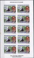 Guinée Louis Pasteur  Dog Chien Feuillet De 10 Imperf  MNH - Louis Pasteur