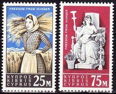 CYPRUS 1963 Freedom From Hunger MNH Set Vl. 40 / 41 - Ongebruikt