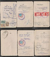 S.Africa, 1948 54, 3 Passport Pages, Revenue Stamps GVIR 2/= Language Error, QE II 2/= X3, Portugal 110$, 2$, 1$ - South Africa (...-1961)