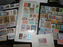 Collection , Andorre Francais 100 Timbres Obliteres - Timbres