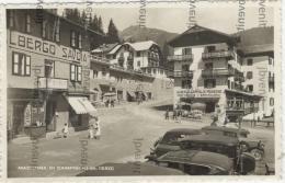 MADONNA Di CAMPIGLIO (TRENTO) - ALBERGO SAVOIA - ALBERGO PENSIONE  BAR MILAN0 (auto D'epoca) - Trento
