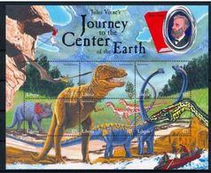 Liberia Jules VERNE Voyage Au Centre De La Terre Dinosaurs Dinosaures MNH - Concorde