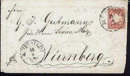 ALLEMAGNE - Bavière - Enveloppe De Altenstadt Pour Nurnberg - B/TB - - Bavière