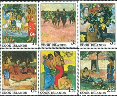 COOK Tableaux, IMPRESSIONNISTES, Painting ** MNH Yvert 160/65 - Impressionisme