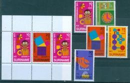 SURINAM  #B189a -  EDUCATION S/S + 5v   1972 - Surinam