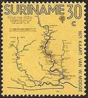 SURINAME #391 -   FIRST SURINAM MAP - 1971 MNH - Surinam