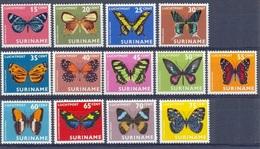 SURINAM  #623-35   -  MOTHS AND BUTTERFLIES  - AIRMAIL  1972  - MNH - Surinam