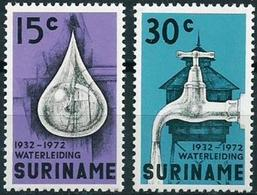 SURINAME  #395-6   -   40th Anniversary Of Surinam Waterworks - Surinam