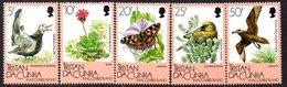 Tristan Da Cunha 1986 Inaccessible Island Flora & Fauna Set Of 5, MNH, SG 417/21 - Tristan Da Cunha