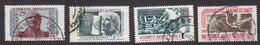 Mexico, Scott #C206-C207, C227-C228, Used, Hidalgo, Aztec, Issued 1953-55 - Mexico