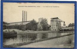 CPA Péniche Mariniers Battellerie Non Circulé ORIGNY Sainte BENOITE Aisne Cimenterie - Houseboats