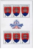 Slovacchia - 1993 - Nuovo/new MNH - Stemma - Foglio Intero/Kleinbogen - Mi N. 162 - Slovacchia