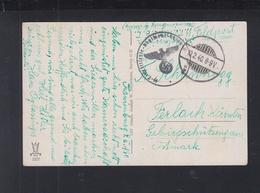 Dt. Reich AK 1940 Oranienburg SS Totenkopf Art. Reg. - Briefe U. Dokumente