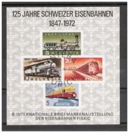 Svizzera - 1972 - Usato/used - 125 Jahre Schweizer Eisenbahnen - Svizzera
