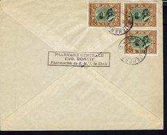 """IRAN  """"E. Bonati Pharmacien De S.M.I. Le Shah Téhéran"""" Enveloppe Pour La Banque Cantonale De Berne (SUI) B/TB - - Iran"""