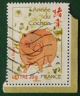 4001 France 2007 Oblitéré Année Lunaire Chinoise Du Cochon - Usados