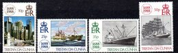 Tristan Da Cunha 1988 300th Anniversary Of Lloyd's Of London Set Of 4, MNH, SG 457/60 - Tristan Da Cunha